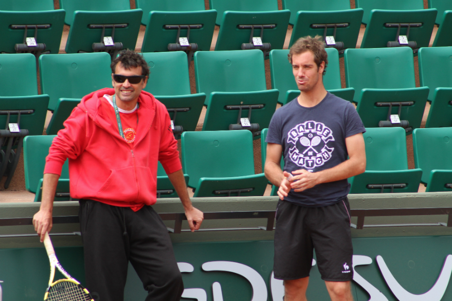 Sergi Bruguera and Richard Gasquet
