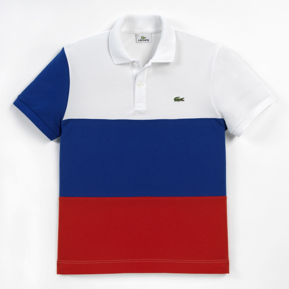 b14f85180307d The Limited Edition Polo Shirt comes in an engraved plexiglass showcase.  The colorful banners of 16 selected countries are staged on a black and  white ...