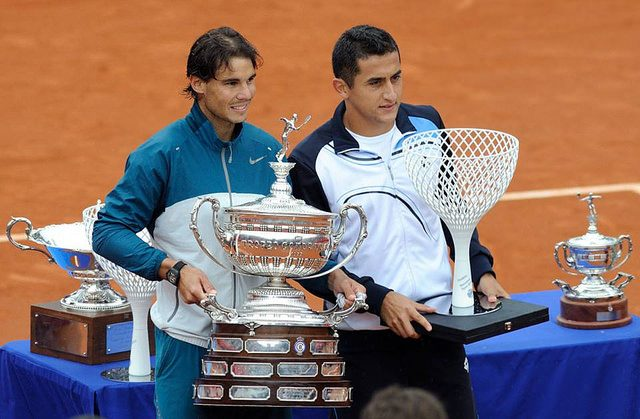 Rafael Nadal and Nicolas Almagro, Barcelona Open 2013
