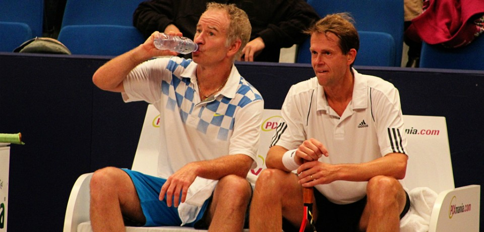 John McEnroe and Stefan Edberg