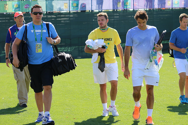 Indian Wells 2014: Roger Federer and Stanislas Wawrinka