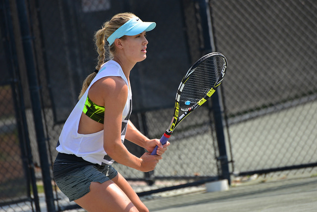 2014 Family Circle Cup:  Eugenie Bouchard at practice