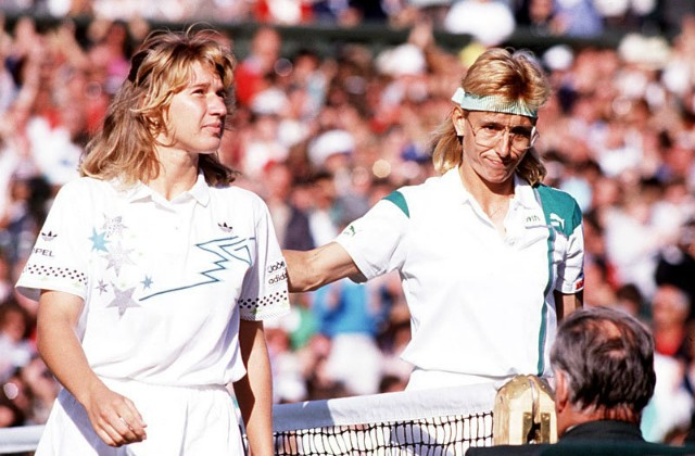 Graf and Navratilova, Wimbledon 88