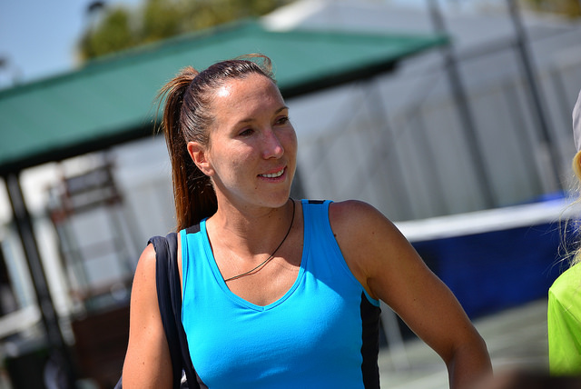 2014 Family Circle Cup:  Jelena Jankovic at practice