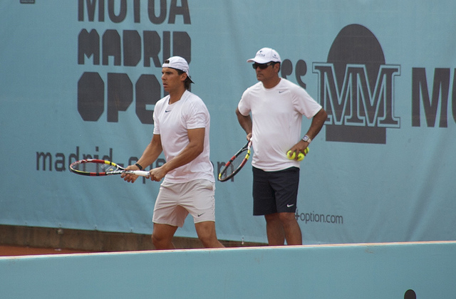 Mutua Madrid Open 2014: Rafael Nadal at practice