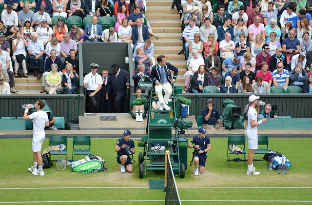 Andy Murray and Kevin Anderson, Wimbledon 2014