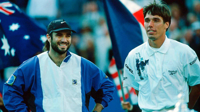 Andre Agassi and Michael Stich, 1994 US Open