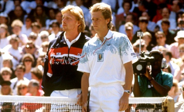 Becker and Edberg, Wimbledon 1990