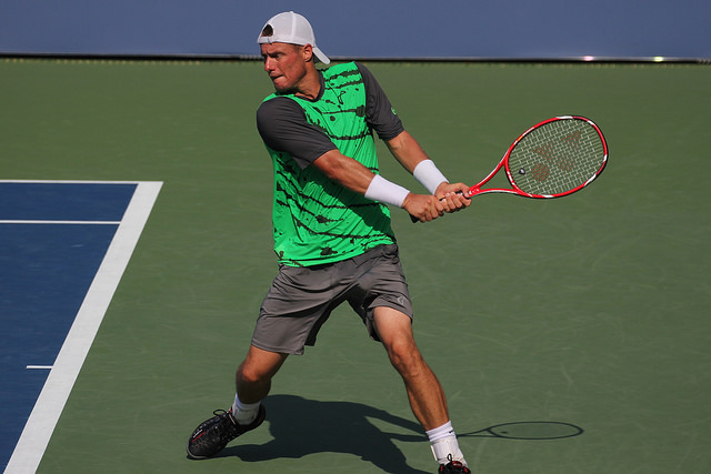 2014 US Open 1st round: Tomas Berdych defeats Lleyton Hewitt