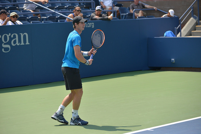 2014 US Open: Andy Murray at practice