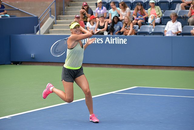 2014 US Open: Maria Sharapova at practice