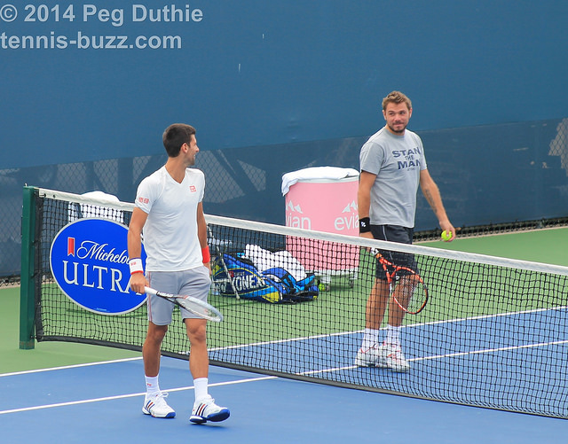 2014 Western & Southern Open: players at practice