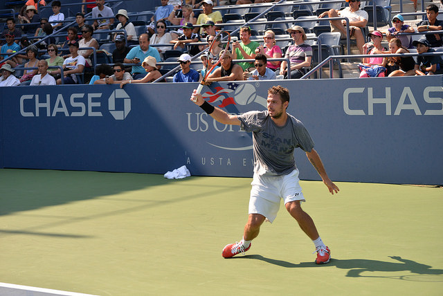 2014 US Open: Stan Wawrinka at practice