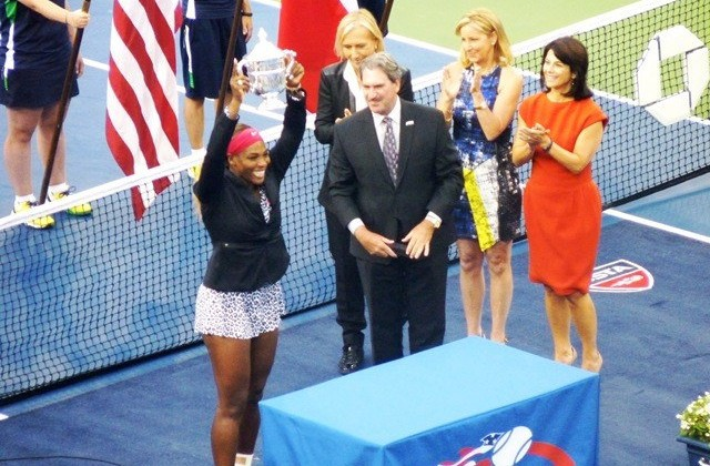 2014 US Open champion Serena Williams