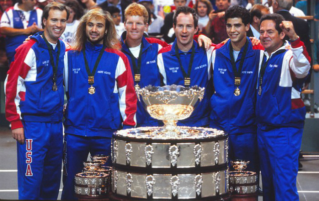 The 1992 Davis Cup final, by Pete Sampras