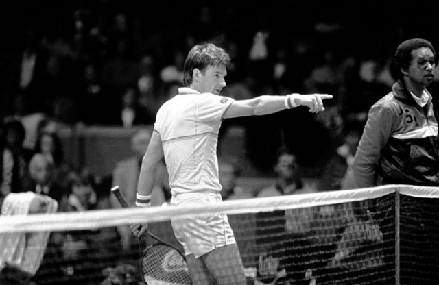 Connors and Ashe, 1984 Davis Cup final