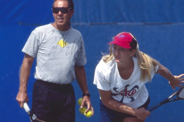 Mary Pierce and Nick Bollettieri