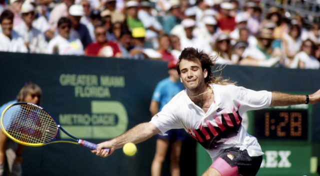Andre Agassi, 1990 Lipton Open