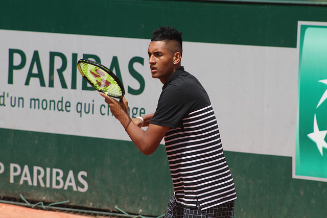 Roland Garros 2015: Kyrgios and Janowicz at practice