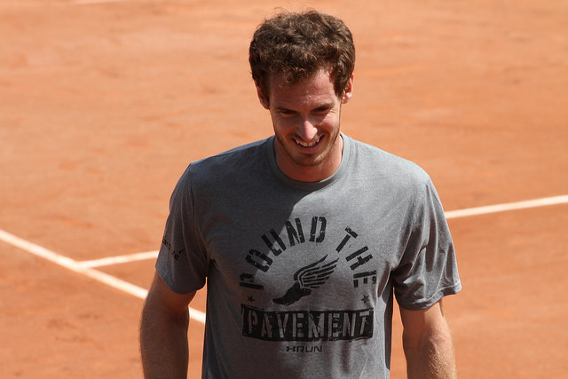 Roland Garros 2015: Murray practicing with Kokkinakis