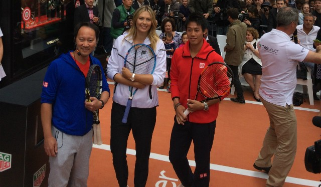 Michael Chang, Maria Sharapova and Kei Nishikori