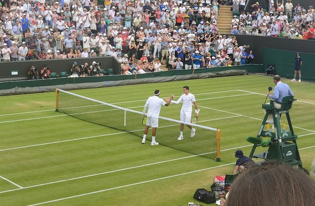 Kyrgios and Raonic, Wimbledon 2015