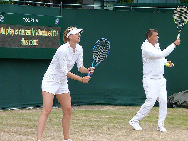 Wimbledon 2015: Maria Sharapova at practice
