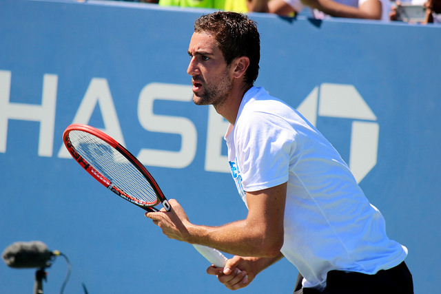 2015 US Open: Marin Cilic at practice