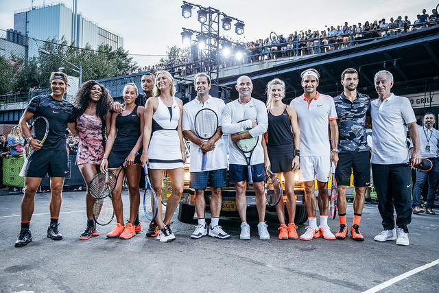Nike tennis stars hit the streets of New York City