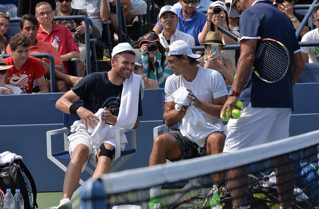Mardy Fish and Rafael Nadal