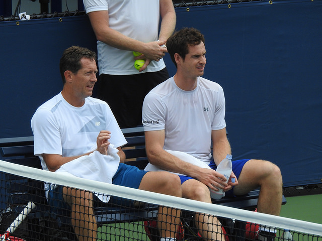 2015 US Open: Murray, Berdych and Lopez at practice