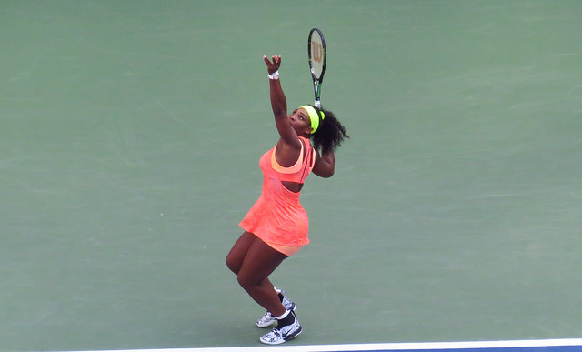 2015 US Open R4: Serena Williams defeats Madison Keys