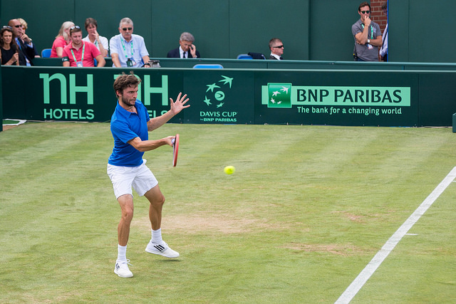 Davis Cup 2015 QF: Gilles Simon defeats James Ward