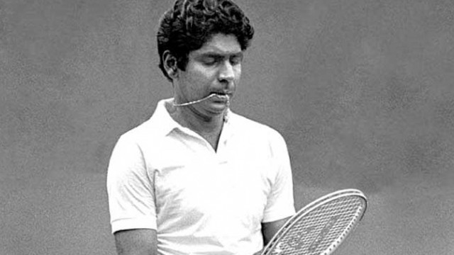 Indian tennis player Vijay Armitraj