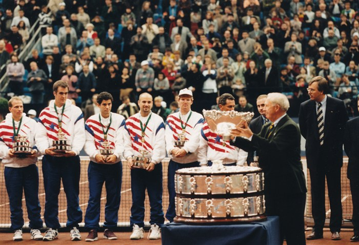 The 1995 Davis Cup final by Pete Sampras