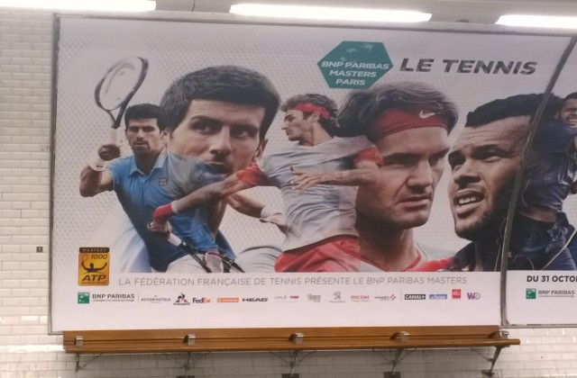 Djokovic and Federer in the subway
