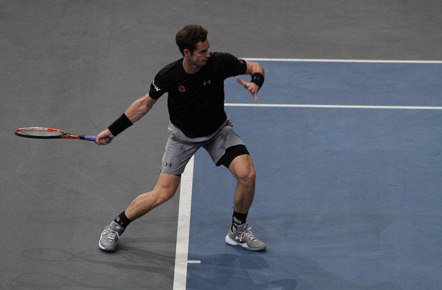 Andy Murray at the 2015 BNP Paribas Masters