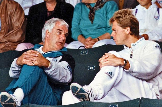 Tony Pickard and Stefan Edberg, Wimbledon 1991