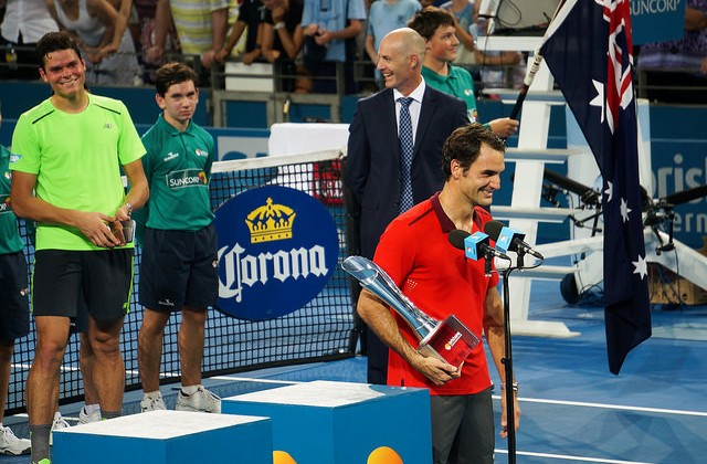 Roger Federer and Milos Raonic, Brisbane 2015