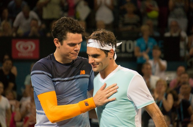 Raonic and Federer, Brisbane 2016