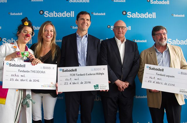 Banc Sabadell Aces for Charity awards 24,000 euros to good cause