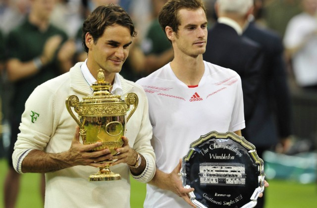 Roger Federer and Andy Murray, Wimbledon 2012