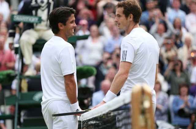 Andy Murray and Fernando Verdaco, Wimbledon 2013