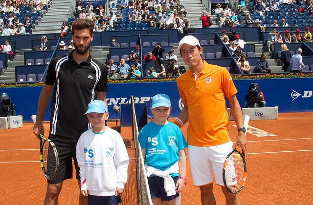 Kei Nishikori and Benoit Paire, Barcelona Open 2016