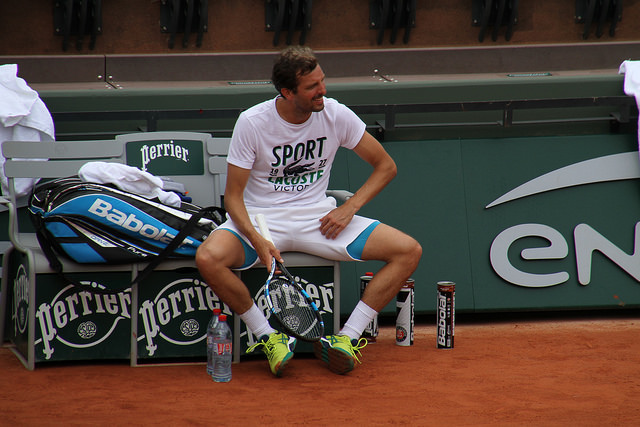 Roland Garros 2016: Benneteau and Halys at practice