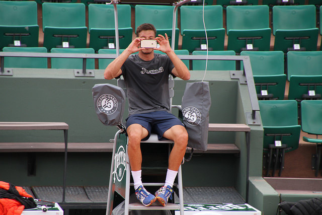 Roland Garros 2016: Carreno Busta at practice