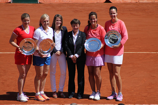 Roland Garros 2015: Clijsters and Navratilova pair to win the Legends Trophy