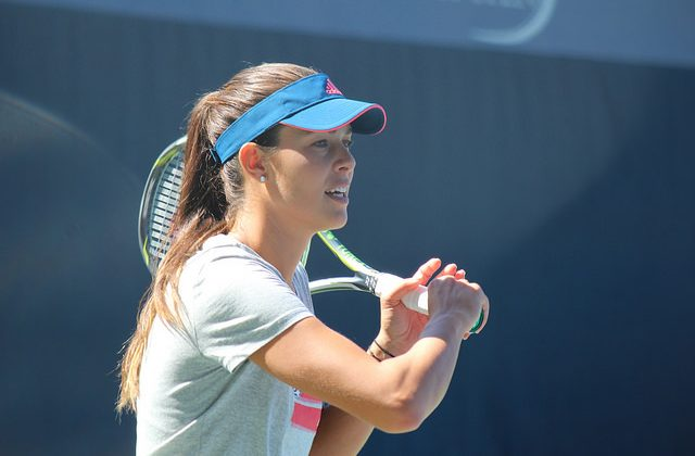 Ana Ivanovic at practice, 2016 US Open