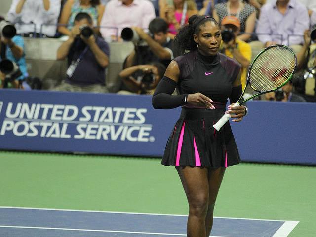 2016 US Open 1st round: Serena Williams defeats Ekaterina Makarova