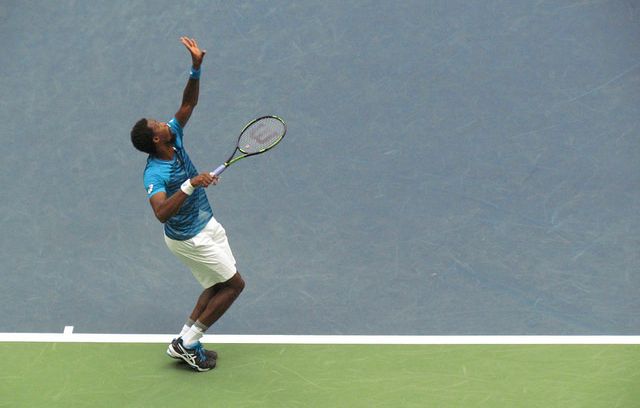 2016 US Open QF: Gael Monfils defeats Lucas Pouille